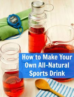 This all-natural homemade energy drink provides a great tasting mix of carbohydrates to fuel your muscles. Plus it's much cheaper than store bought energy drinks!
