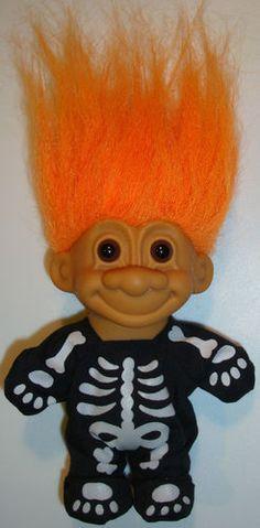 "Russ Troll Doll 4 1/2"" HALLOWEEN SKELETON"