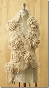 Rose Scarf Crochet Pattern - EASY