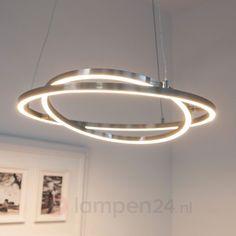 LED-hanglamp Lovisa met twee LED-ringen veilig & makkelijk online bestellen op lampen24.nl