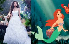 Disney updated Ariel's shell bra and fin combo to something a tad more wedding appropriate with this mermaid-inspired gown.   - Cosmopolitan.co.uk