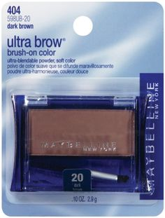 Maybelline New York Ultra-Brow Brow Powder, Shade Light Brown, OunceDefines brows.Natural look.Brush on powder color defines brows softly and naturally. Eyebrow Pencil, Eyebrow Makeup, Beauty Makeup, Beauty Tips, Beauty Products, Makeup Products, Beauty Essentials, Beauty Stuff, Beauty Ideas