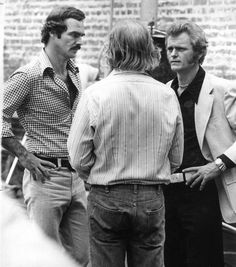"Movies Made in Savannah | savannahnow.com  Burt Reynolds, Jerry Reed confer during the filming of ""Gator"" in Oct. 1975. (Savannah Morning News)"