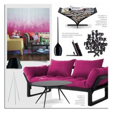 """Black & Purple Decor"" by lovethesign-eu ❤ liked on Polyvore featuring interior, interiors, interior design, home, home decor, interior decorating, AK47, Umbra, purple and black"