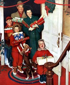 norman rockwell christmas picture | Trick or Treat! Here Comes Holiday Havoc! | Donna Ferber, LPC, LADC ...