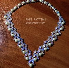 Free pattern for necklace Evita | Beads Magic