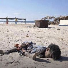 Picture of one of the four Palestinian children killed by Israeli shells while they were playing football on the beach- 25-July-2014 I have NO words!!!