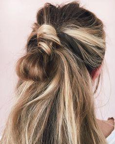 loose half knot | hair
