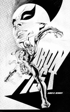 Iron Fist by Rudy Nebres Marvel Comics, Marvel Comic Universe, Dc Comics Art, Marvel Art, Marvel Heroes, Anime Comics, Comic Superheroes, Comic Book Artists, Comic Book Characters