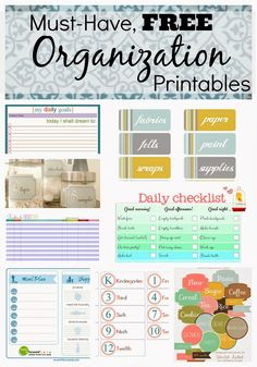 Mammamoiselle: Must-Have {Free} Organization Printables