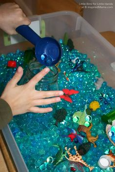 Water Beads Earth Day Activities at B-Inspired Mama
