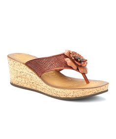Take a look at this Orange Mimmey Claire Platform Wedge Sandal - Women on zulily today!