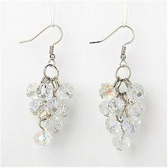 Fashion Glass Earrings(EJEW-JE00527-07)