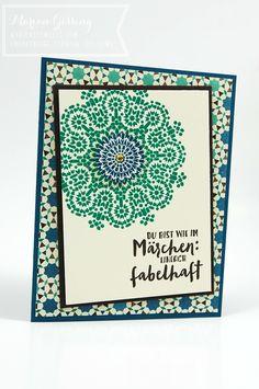 stampin up, moroccan nights, geburtstagskarte