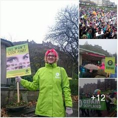 More highlights from the #ScotClimateMarch yesterday. Over 5500 marched! http://fb.com/OxfamScotland/posts/10153389626522901 #COP21 #EyesOnParis