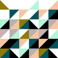 triangles and colour palette