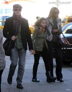 David Bowie and Iman with their daughter Alexandria