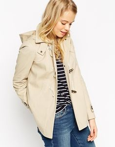 ASOS Duffle Coat In Brushed Cotton