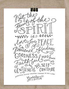 Fruit of the Spirit Art Print 8x10 by RebekahDischDesign