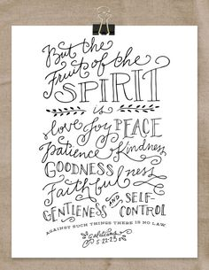 Fruit of the Spirit Art Print 8x10 by RebekahDischDesign