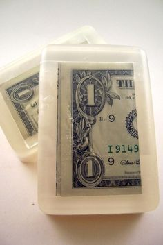 Dollar Bill Soap- with real currency inside. (Encouragement to wash hands...