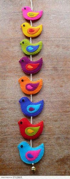 Guirnalda pájaros - birds garland