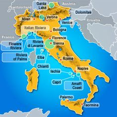 ITALY Map to visit my family i have never met.