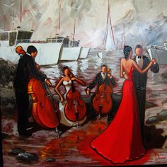 Peinture de Claude Bonneau Claude, Artsy, Paintings, Doors, Mom, Image, Pintura, Painting On Wood, Musicians