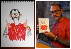 Illustrator Damien FLOREBERT-CUYPERS is represented by www.schierke.com. He caught the fashion industry's attention with his unique 1-minute portrait drawings. Here he drew Top fashion photographer Terry Richardson.