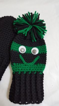 Golf Club Covers Black Green Club Covers by KnotJustCrochetHere