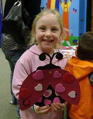 Love bug craft for kindergarten