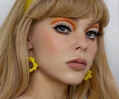 Makeup Eye Looks, No Eyeliner Makeup, Cute Makeup, Beauty Makeup, Hair Makeup, 70s Makeup Look, Doll Eye Makeup, Makeup Eyes, Makeup Looks