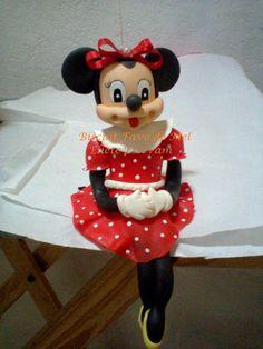 Vela Minnie em biscuit