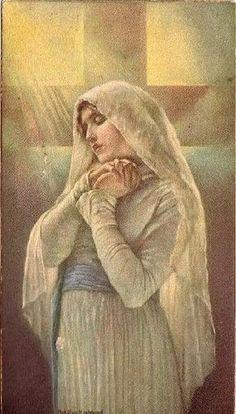 Catholic Prayers, Catholic Art, Catholic Saints, Religious Art, Lady Of Lourdes, Lady Of Fatima, Madonna, Blessed Mother Mary, Blessed Virgin Mary