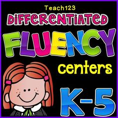 This is a great way to help your students with the Dibels. Differentiated fluency centers - reading levels K-5. Can also be set up as a folder game. Perfect for your early finishers! $ Reading Centers, Reading Fluency, Reading Intervention, Reading Groups, Reading Workshop, Reading Strategies, Reading Levels, Literacy Centers, Literacy Cafe
