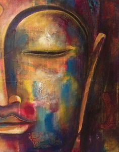 Shiv Krishna Buddha all together in one painting.