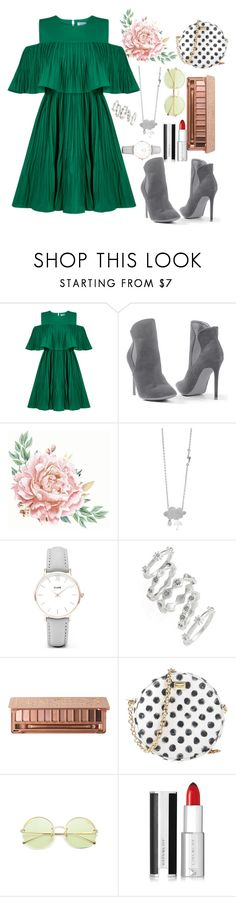 """""""green and silver"""" by itsbree013 ❤ liked on Polyvore featuring Jovonna, Venus, CLUSE, Luv Aj, Urban Decay, Dolce&Gabbana and Givenchy"""