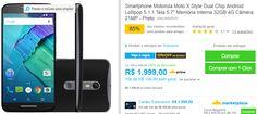 "Motorola Moto X Style Dual Chip Android Lollipop 5.1.1 Tela 5.7"" Memória Interna 32GB 4G Câmera 21MP << R$ 161919 >>"