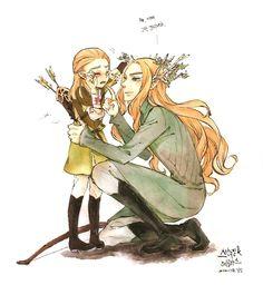 Legolas and Thranduil Thttp://nyangsam.tumblr.com/