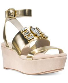 MICHAEL Michael Kors Luna Platform Wedge Sandals