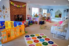 in home daycare setup ideas Home Daycare Rooms, Daycare Spaces, Childcare Rooms, Preschool Rooms, Preschool At Home, Preschool Classroom, Daycare Setup, Daycare Design, Daycare Organization