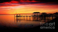 Evening Enchantment At The Hilton Pier by Ola Allen