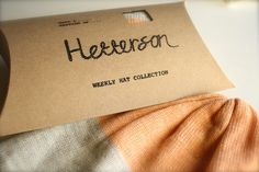 hand printed packaging and tags for indie clothing brand Hetterson