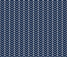 navy chevron fabric by ivieclothco on Spoonflower - custom fabric