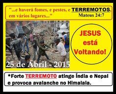 O FIM SE APROXIMA - ENTREGUE SUA VIDA PARA O SENHOR E SALVADOR JESUS CRISTO!