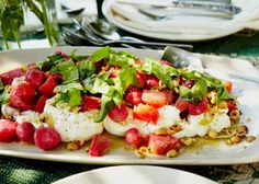 Roasted Beets with Hazelnut Vinaigrette and Burrata - Bon Appétit, Janet made this...