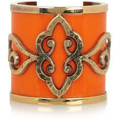 Emilio Pucci Gold-plated plexiglass cuff (¥31,565) ❤ liked on Polyvore featuring jewelry, bracelets, accessories, orange, cuff, bright orange, gold plated jewellery, bracelet bangle, cuff bangle and orange bracelet