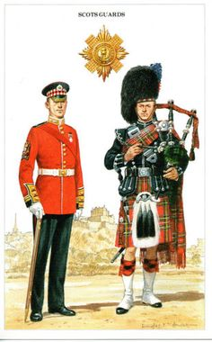 Scots Guards, post card
