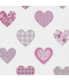 Dutch Wallcoverings Happy Kids hartjes roze grijs 05583-10