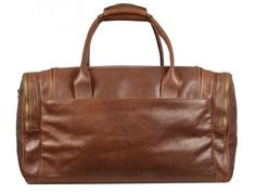 BROWN LEATHER DUFFEL BAG - THE HITCHHIKERS GUIDE TO THE GALAXY